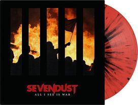 Sevendust - All I See Is War [Exclusive Red with Black Splatter Vinyl]