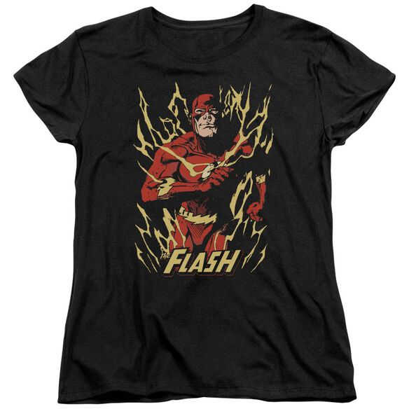Jla Flash Flare Short Sleeve Womens Tee T-Shirt