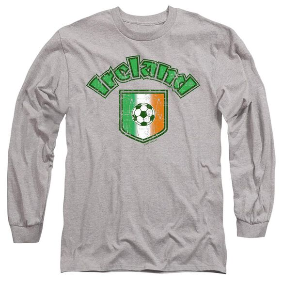 IRELAND WITH SOCCER FLAG- ADULT 18/1 T-Shirt
