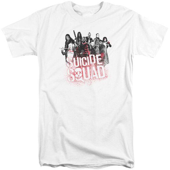 Suicide Squad Squad Splatter Short Sleeve Adult Tall T-Shirt