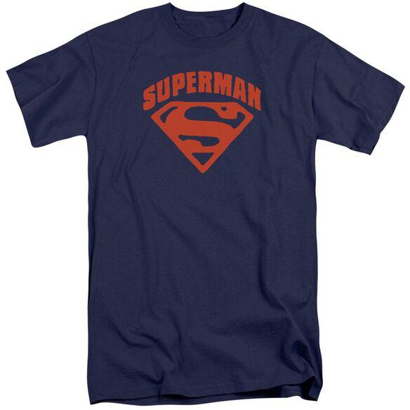 Superman Super Shield Short Sleeve Adult Tall T-Shirt