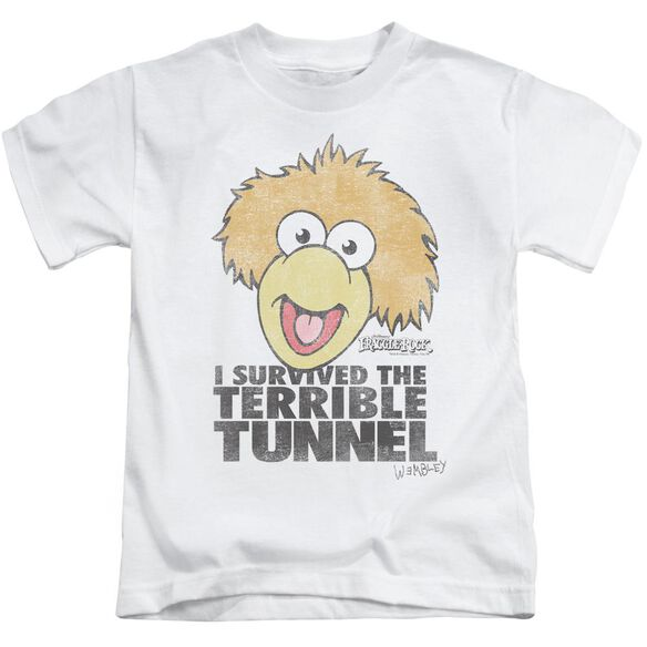 Fraggle Rock Terrible Tunnel Short Sleeve Juvenile White T-Shirt
