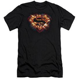 Superman Space Burst Shield Short Sleeve Adult T-Shirt