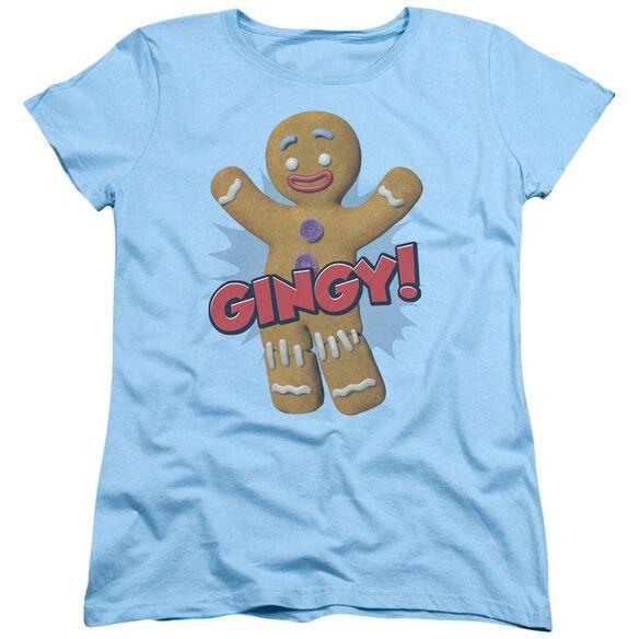 Shrek Gingy Short Sleeve Womens Tee Light T-Shirt