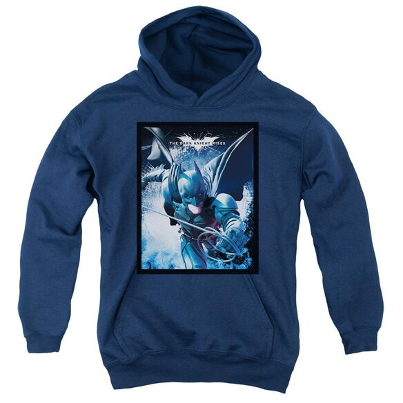 Dark Knight Rises Swing Into Action Youth Pull Over Hoodie