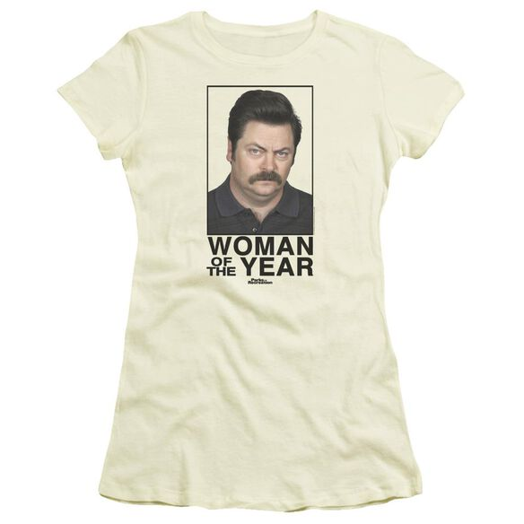 Parks And Rec Woman Of The Year Short Sleeve Junior Sheer T-Shirt
