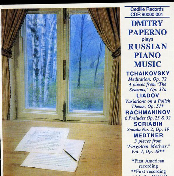 Dmitry Paperno - Plays Russian Piano Music