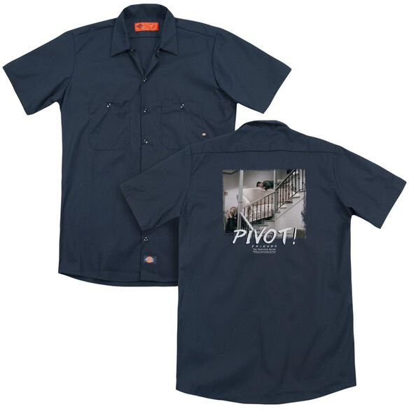 Friends Pivot (Back Print) Adult Work Shirt