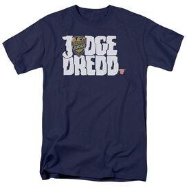 Judge Dredd Logo Short Sleeve Adult Navy T-Shirt