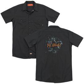 Def Leppard Broken Glass (Back Print) Adult Work Shirt