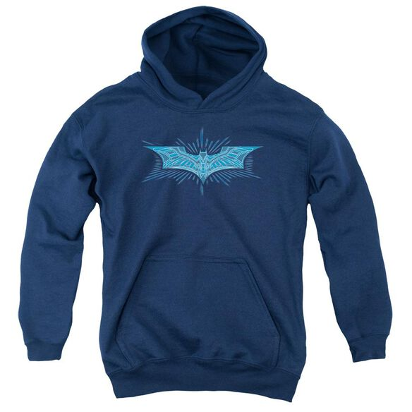 Dark Knight Bat Armor Logo Youth Pull Over Hoodie