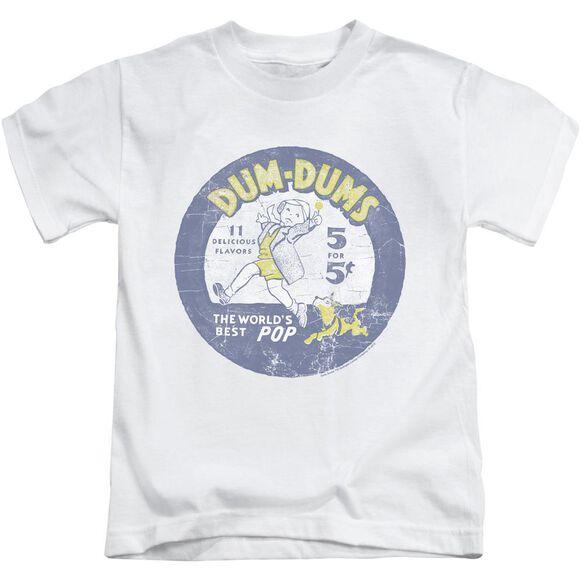Dum Dums Pop Parade Short Sleeve Juvenile White T-Shirt