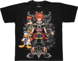 Kingdom Hearts Filigree Black T-Shirt