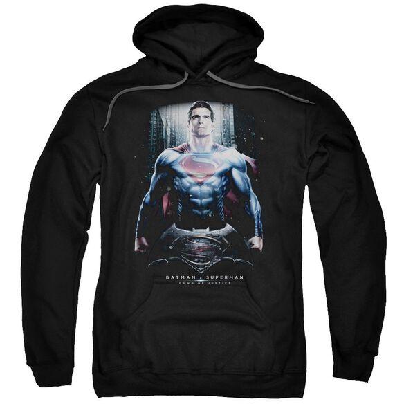 Batman V Superman Supe Ground Zero Adult Pull Over Hoodie