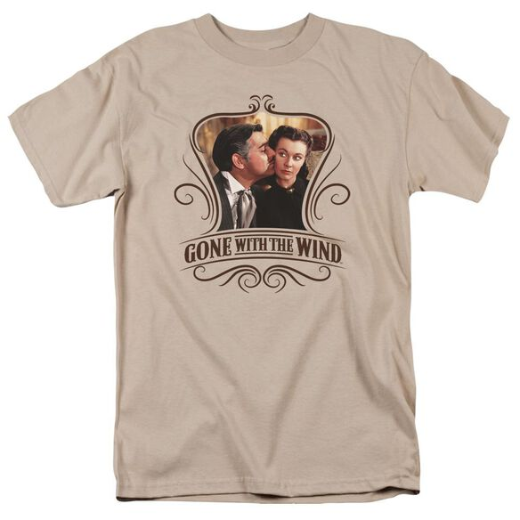 Gone With The Wind Kissed Short Sleeve Adult Sand T-Shirt