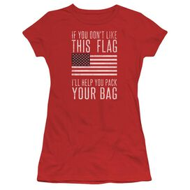 Pack Your Bag Short Sleeve Junior Sheer T-Shirt