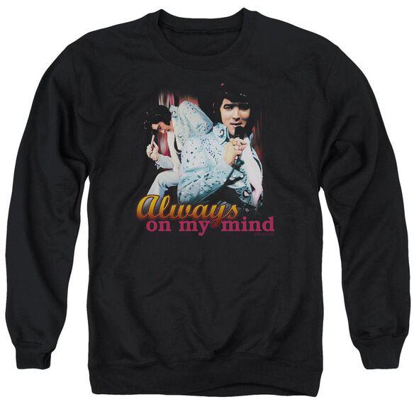 Elvis Always On My Mind Adult Crewneck Sweatshirt