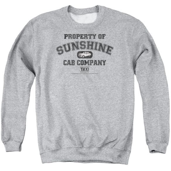 Taxi Property Of Sunshine Cab Adult Crewneck Sweatshirt Athletic