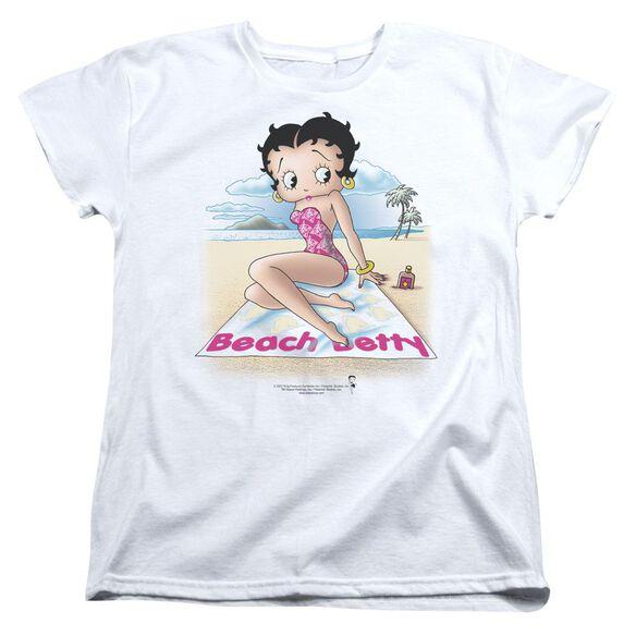 Betty Boop Beach Betty Short Sleeve Womens Tee T-Shirt