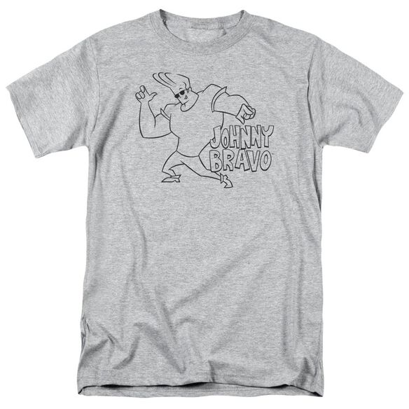 Johnny Bravo Jb Line Art Short Sleeve Adult Athletic T-Shirt