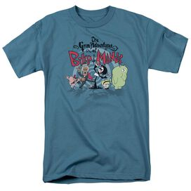 Billy & Mandy Group Shot Short Sleeve Adult Slate T-Shirt