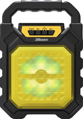2Boom Vibe Portable Wireless Bluetooth Speaker [Yellow]