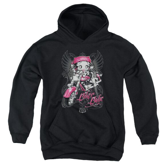 Betty Boop Biker Babe Youth Pull Over Hoodie