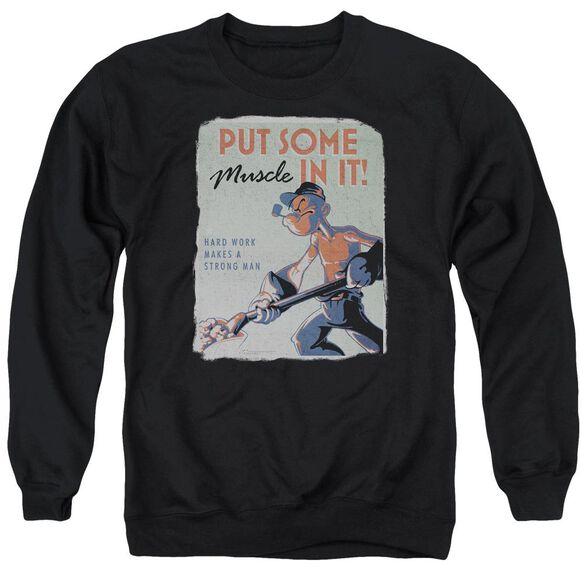 Popeye Hard Work Adult Crewneck Sweatshirt