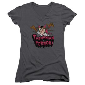 Looney Tunes Taz Terror Junior V Neck T-Shirt