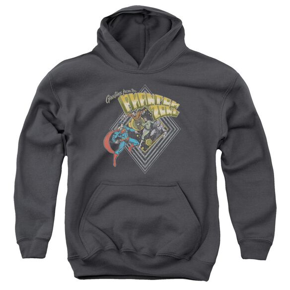 Superman Zod Greetings Youth Pull Over Hoodie