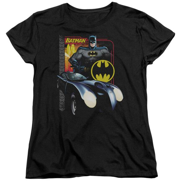 BATMAN BAT RACING - S/S WOMENS TEE - BLACK T-Shirt