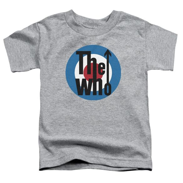 The Who Logo Short Sleeve Toddler Tee Athletic Heather T-Shirt