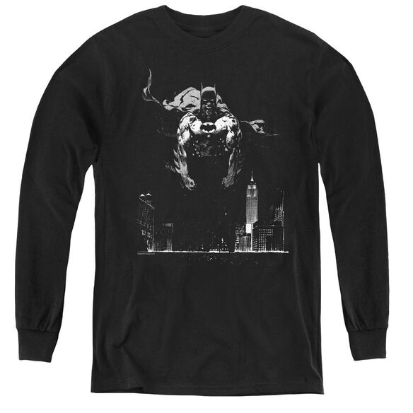 Batman Dirty City - Youth Long Sleeve Tee - Black