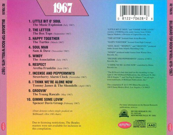 Billboard Top Rock 1967