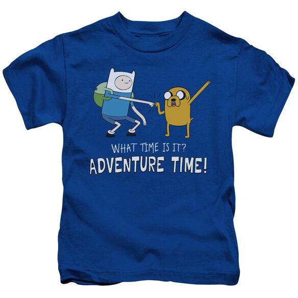 Adventure Time Fist Bump Short Sleeve Juvenile Royal T-Shirt