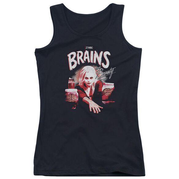 Izombie Brains And Beauty Juniors Tank Top