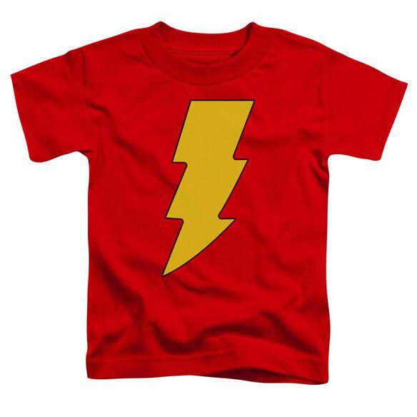 Dc Shazam Logo Short Sleeve Toddler Tee Red Lg T-Shirt