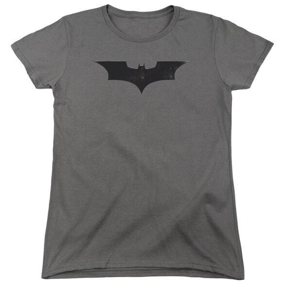 Batman Begins Logo Short Sleeve Womens Tee T-Shirt