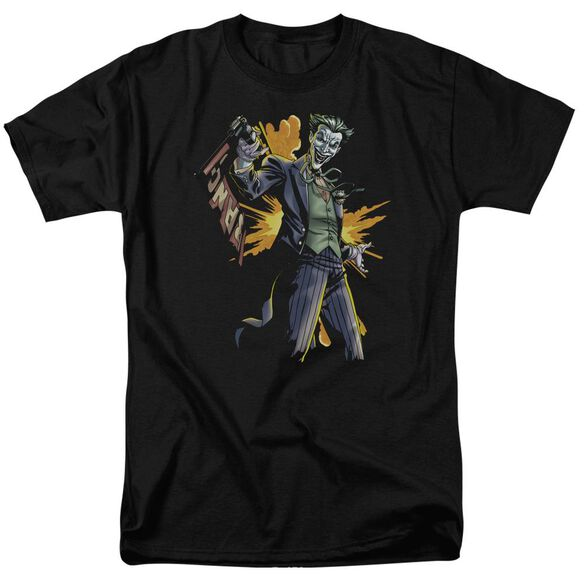 BATMAN JOKER BANG - S/S ADULT 18/1 - BLACK T-Shirt