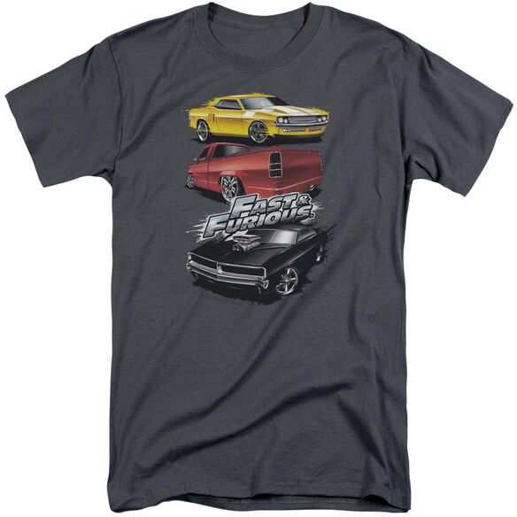 Fast And The Furious Muscle Car Splatter Short Sleeve Adult Tall T-Shirt