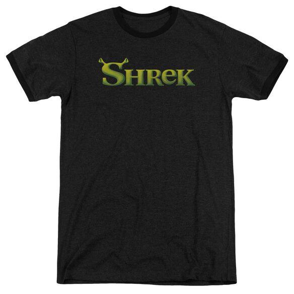 Shrek Logo Adult Heather Ringer