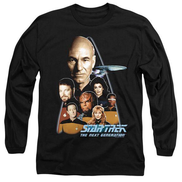 STAR TREK THE NEXT GENERATION - L/S ADULT 18/1 - BLACK T-Shirt