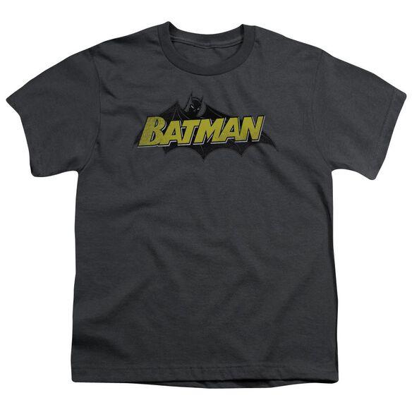 Batman Classic Comic Logo Short Sleeve Youth T-Shirt