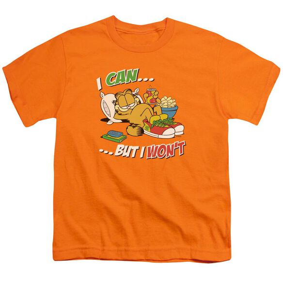 GARFIELD I CAN... - S/S YOUTH 18/1 - ORANGE T-Shirt