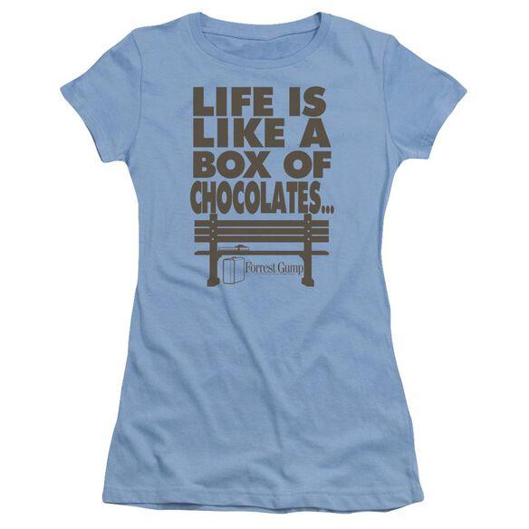 Forrest Gump Life Short Sleeve Junior Sheer Carolina T-Shirt