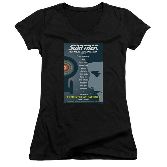 Star Trek Tng Season 1 Episode 2 Junior V Neck T-Shirt