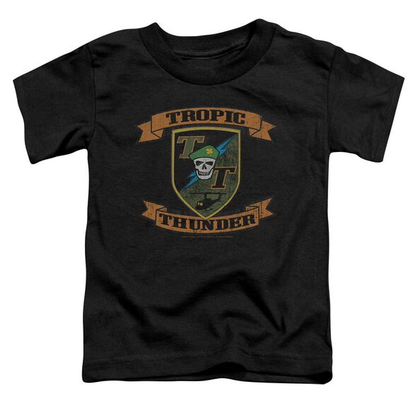Tropic Thunder Patch Short Sleeve Toddler Tee Black Md T-Shirt