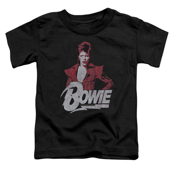 David Bowie Diamond David Short Sleeve Toddler Tee Black T-Shirt