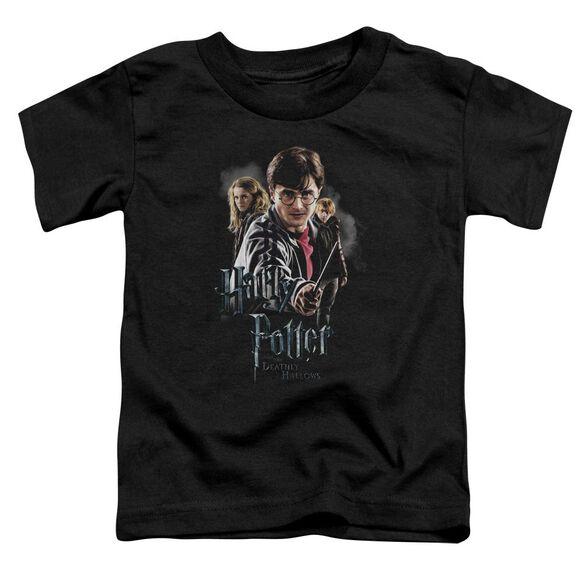 Harry Potter Deathly Hollows Cast Short Sleeve Toddler Tee Black T-Shirt