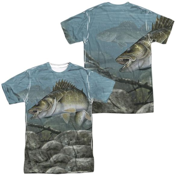 Wild Wings Feeding Frounds (Front Back Print) Short Sleeve Adult Poly Crew T-Shirt